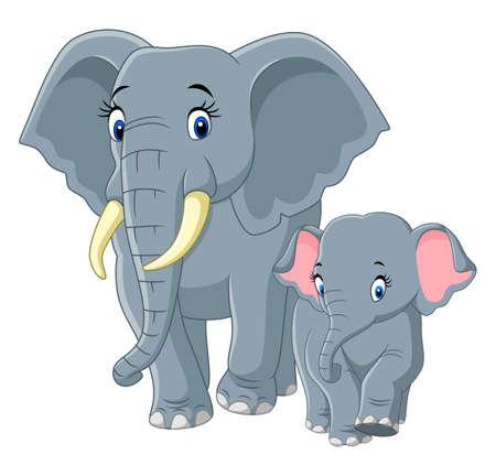 Bebé y Madre Elefante