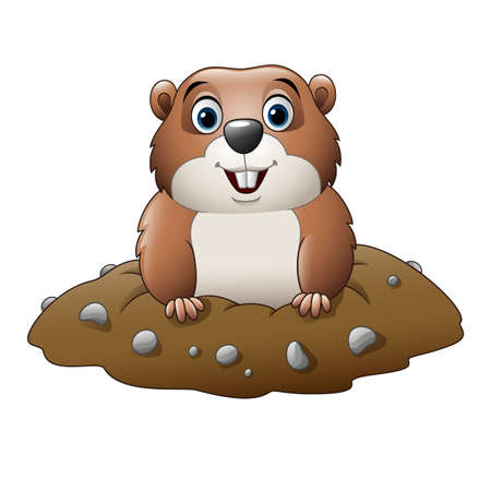 Cartoon funny groundhog