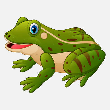 Cartoon cute frog 向量圖像