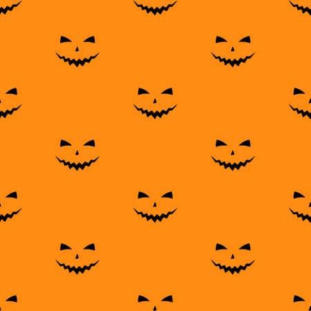 Vector illustration of Set of scary faces Halloween pumpkins Vektoros illusztráció