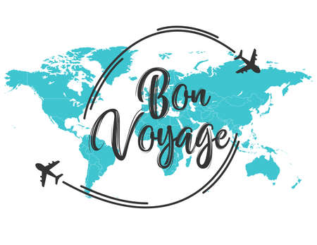 Bon Voyage inscription quote Archivio Fotografico - 109175160