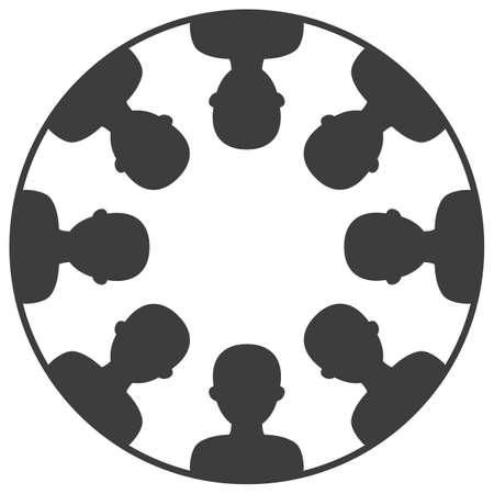 Illustration vectorielle d'icônes de personnes de l'équipe d'affaires