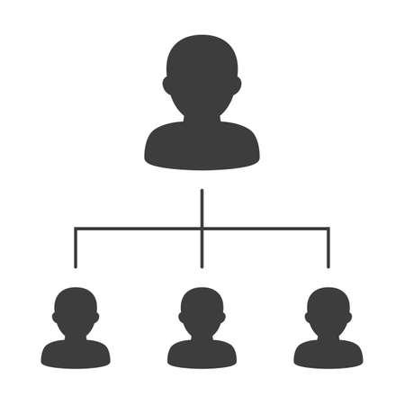 Illustration vectorielle de l'organigramme de l'entreprise avec des icônes de gens d'affaires Vecteurs