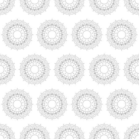 Vector illustration of Outline Rangoli icon isolated on white background