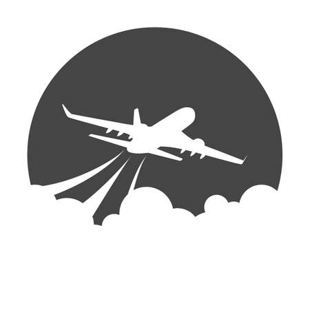 Flying airplane icon 스톡 콘텐츠