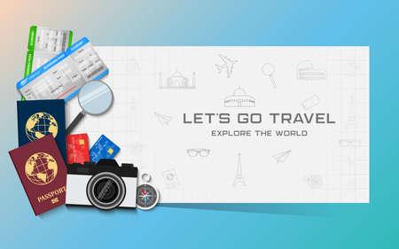 Reise- und Urlaubskonzept