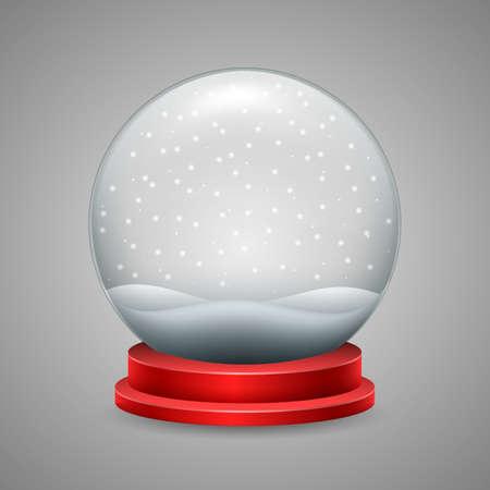 Christmas snow globe with snowfall