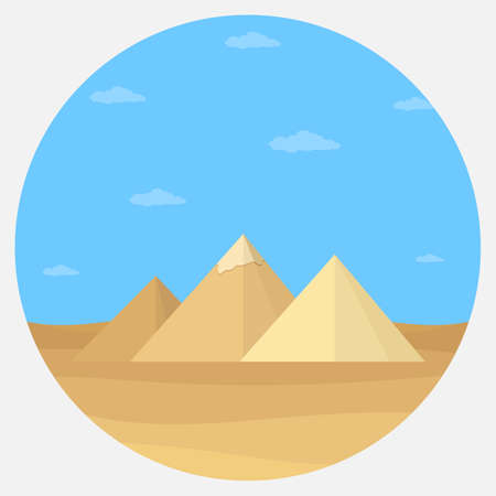 Pyramid Egypt illustration