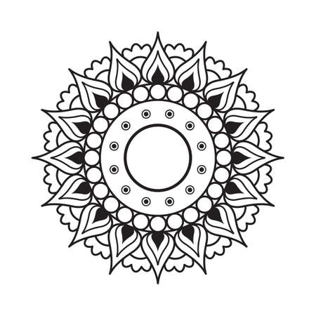 Outline Rangoli icon isolated on white background