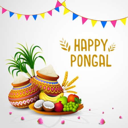 Happy Pongal holiday festival celebration