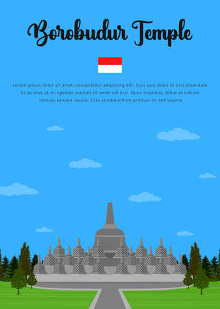 Borobudur Temple in Indonesian
