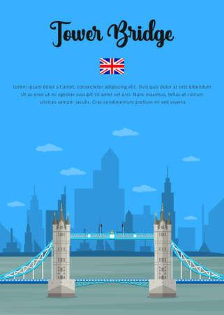 London Tower Bridge in England