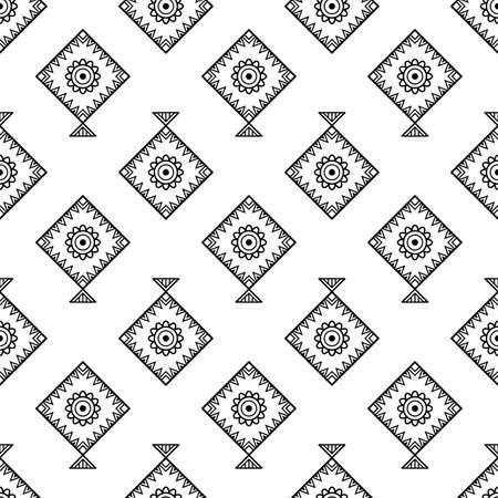 Set of kites outline icon Illustration