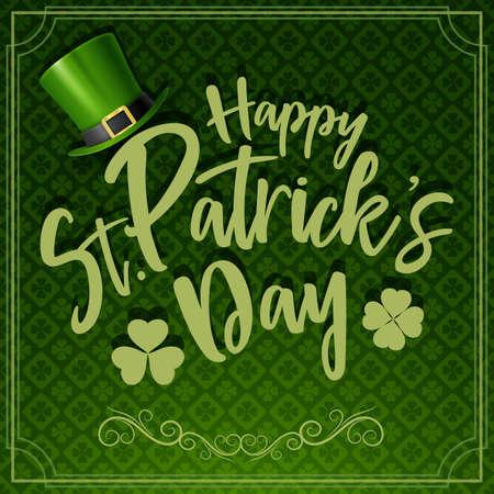 Happy St. Patricks day typography
