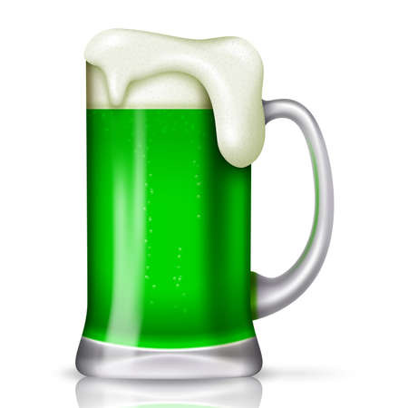 St Patricks day background with glass beer