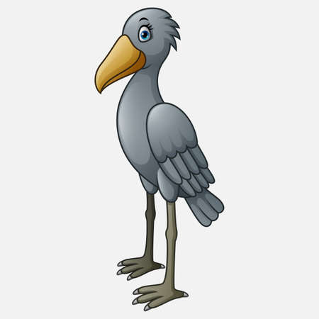 Cartoon Shoebill character