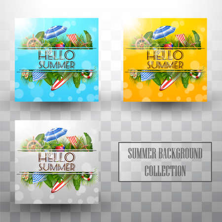 Summer template background collections