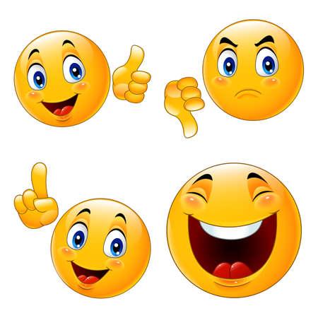 Cartoon smiley emoticon illustration collections