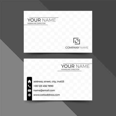 Modern business card design template, design vector illustration Ilustração