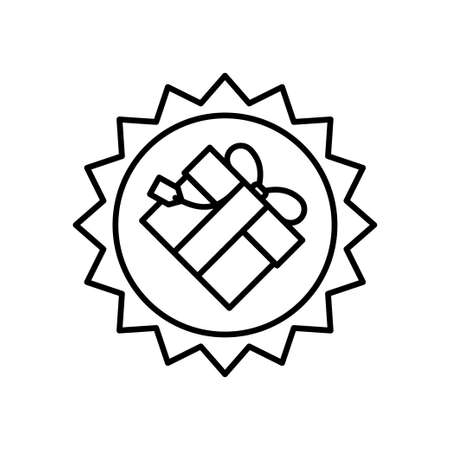 Gift box flat icon on white background, vector illustration Imagens - 130005395
