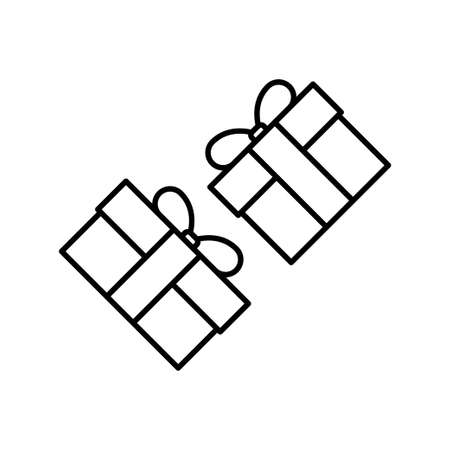 Gift box flat icon on white background, vector illustration Imagens - 130005397