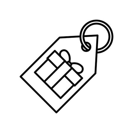 Gift box flat icon on white background, vector illustration