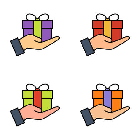 Set of gift box on white background, vector illustration Imagens - 131032020
