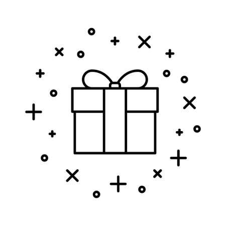Gift box flat icon on white background, vector illustration Imagens - 131032021