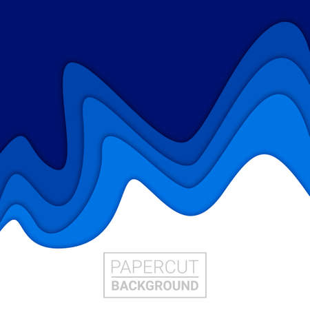3D abstract background and paper cut shapes, vector illustration
