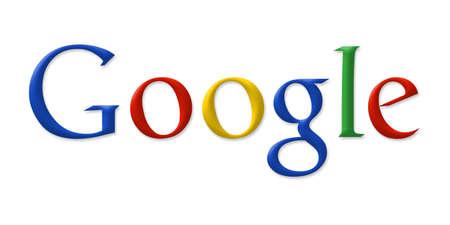 google: Google, el logotipo en la pantalla de ordenador