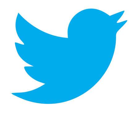 twitter: Twitter, Logo on Computer Screen Editorial