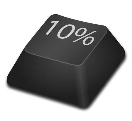 10 key: 10 percent Stock Photo