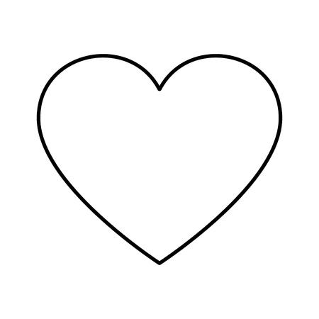 Simple heart shape icon illustration