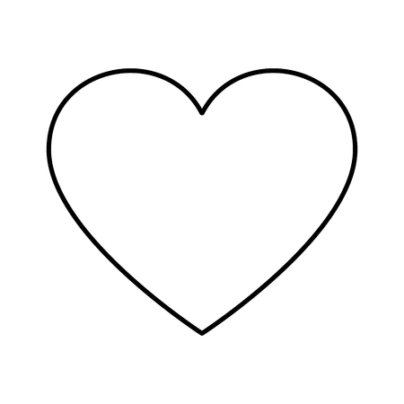 Simple heart shape icon illustration