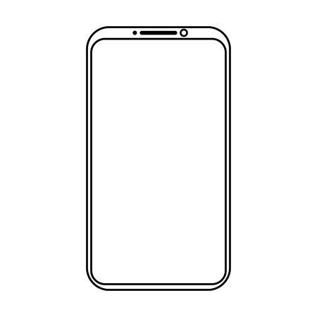 Simple mobile phone icon Illusztráció