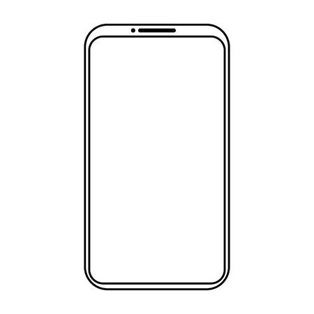Simple mobile phone icon Иллюстрация