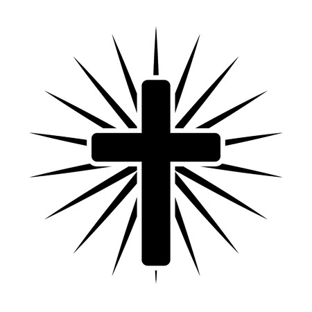 Cross with light coming out of it Illustration