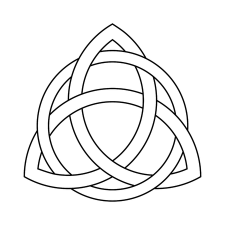 Triquetra ornament with editable fill and stroke colors,