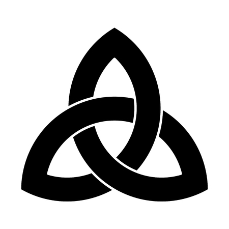 Black Triquetra ornament Stock fotó - 95956377