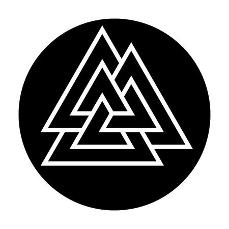 Valknut, three triangles. Ancient germanic symbol. Illusztráció