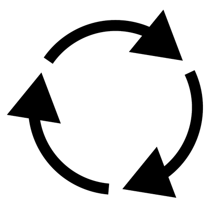 Triple curved recycle/refresh icon Illustration