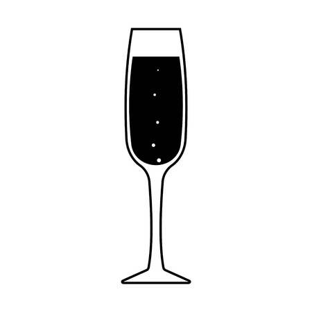 Vector sparkling champagne icon. Every piece isolated.