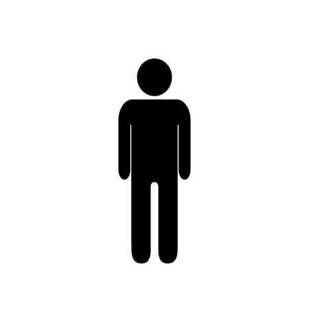 Simple pictogram man on white background