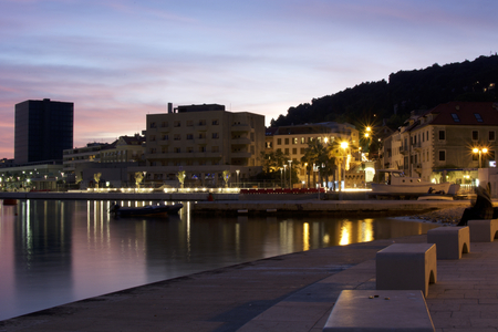 arhitecture: Newly opened West coast in Split, Croatia. Stock Photo