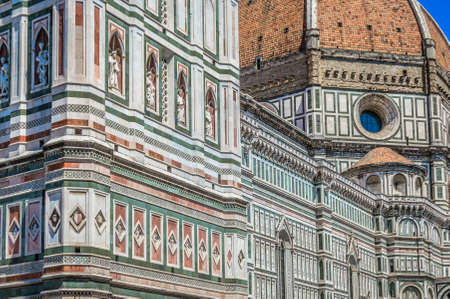 Duomo in Florence Italy, closeup architecture details. Banco de Imagens