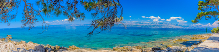 brac: Panorama of Croatia coast in summertime, Island of Brac.