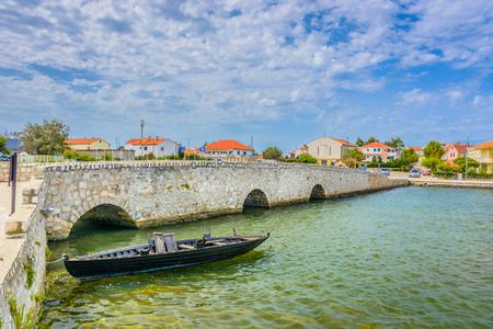 croatian: View at bridge in town Nin, Croatia Europe.