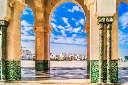 View at architecture in Casablanca, Morocco Africa.
