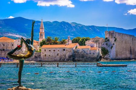 View at summer travel destination in Montenegro, Budva town. Reklamní fotografie
