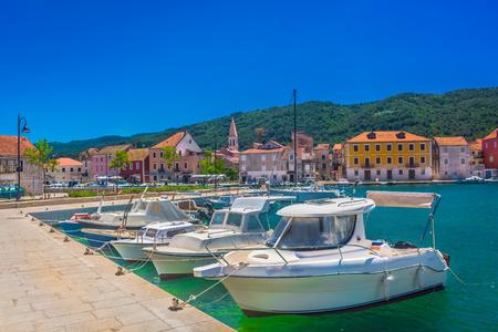 dalmatia: View at coastal mediterranean scenery on Island Hvar, Croatia.